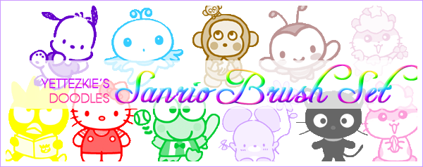 Sanrio Brush Set by yettezkiedoodle