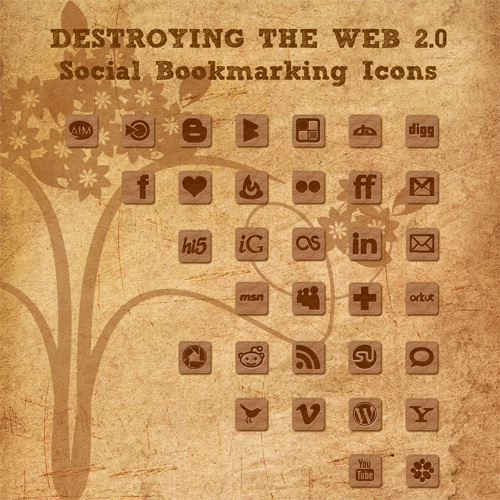 Destroying Web 2.0 Social Icon