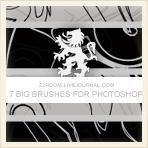 vector swirly brush set by 22room