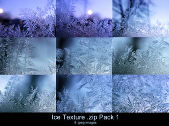 Ice Texture .zip Pack 1 by Melyssah6-Stock