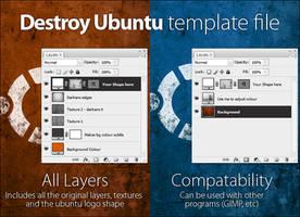 Destroy Ubuntu template file