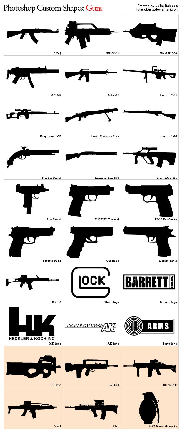 Custom Shapes: Guns Updated by lukeroberts