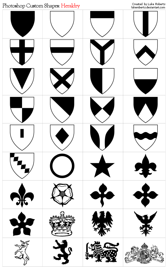 Photoshop Shapes: Heraldry by lukeroberts