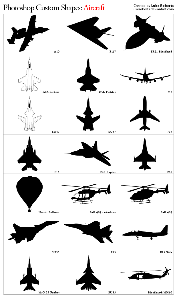 Custom Shapes: Aircraft Custom_Shapes__Aircraft_by_lukeroberts