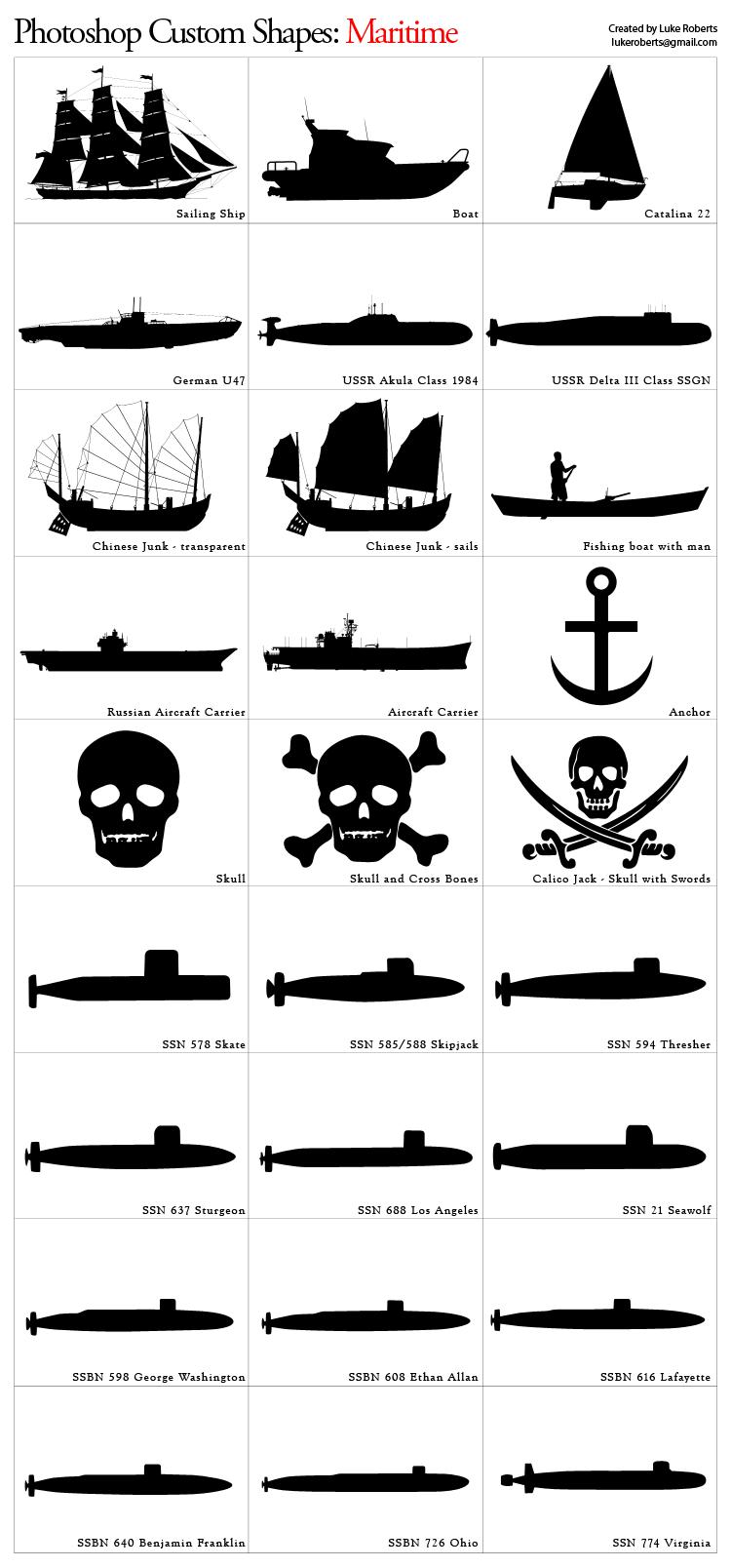 Custom Shapes: Maritime