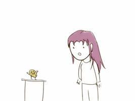 Waffle Dude meets Pan-cake (animated)