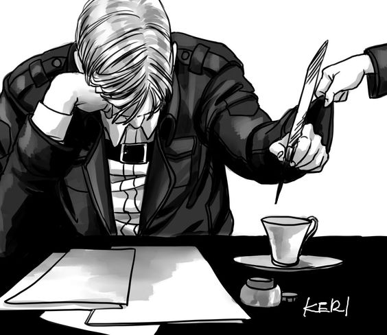 Letters (Erwin X Reader One Shot) by I-Fly-On-My-Own on