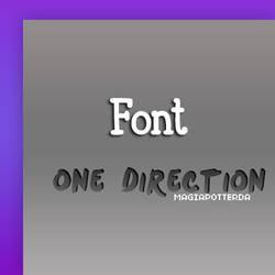 Font OneDirection by magiapotter