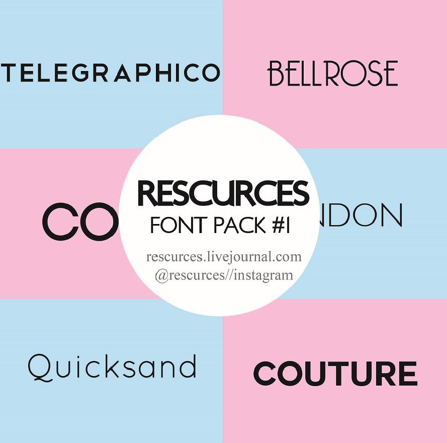 Download Font Pack #1 by rescurces on DeviantArt