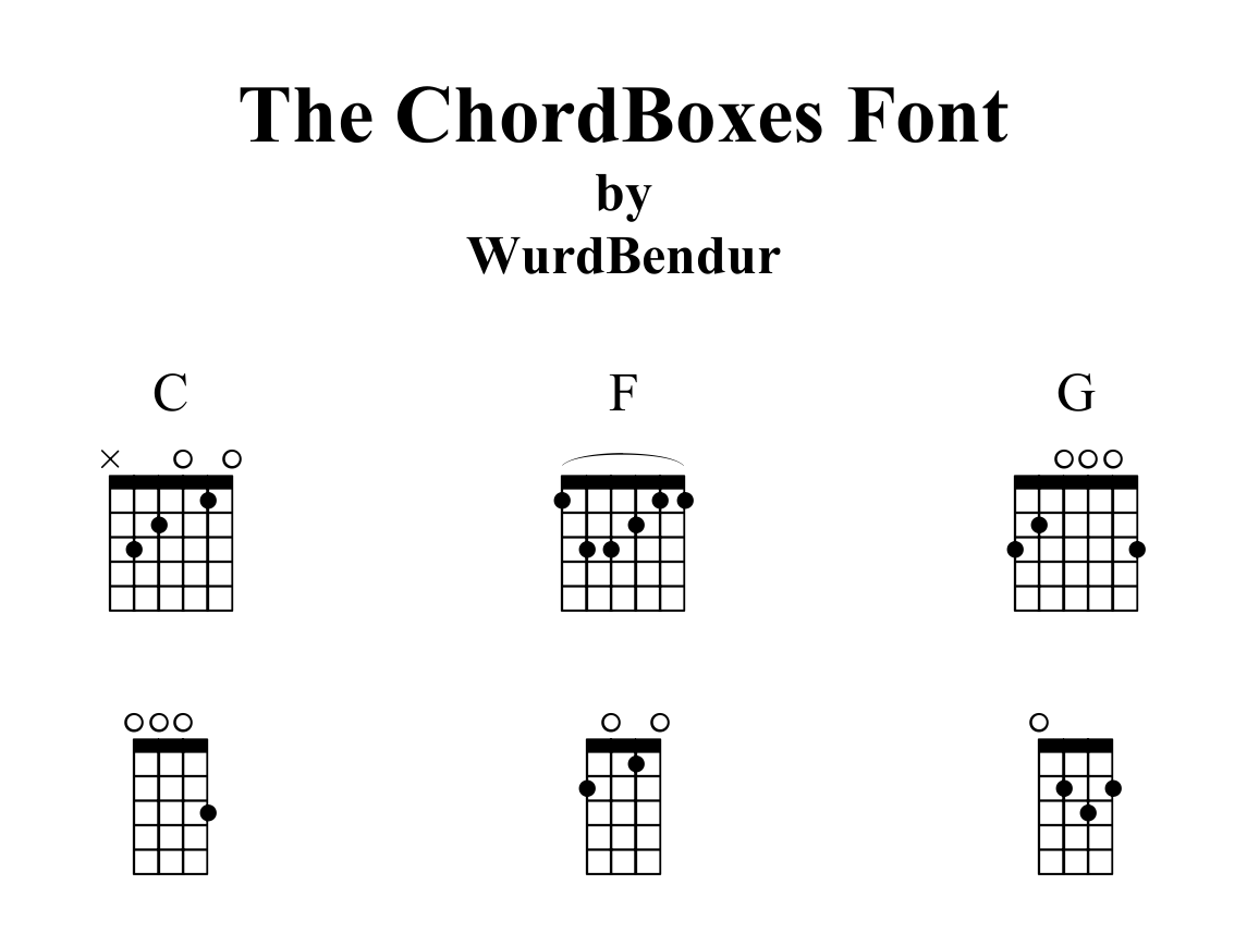 ChordBoxes Font 1.0 by WurdBendur