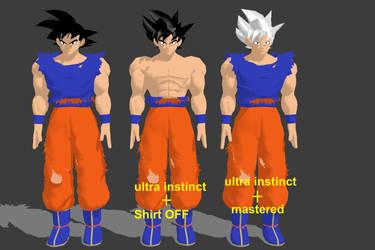 MMD Goku ultra Instinct (UPDATE) V3 +DL by starrk17