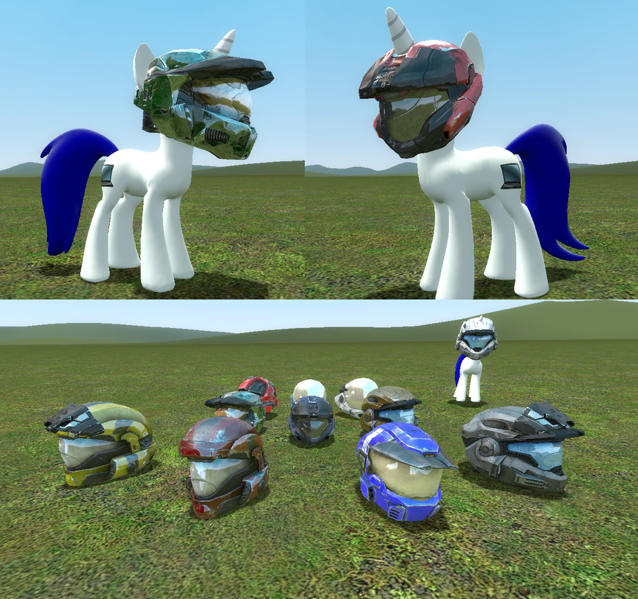 Halo Pony Models: Helmets Release V.1 by DigitalSyntax