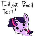 Twilight Sparkle Pencil Test