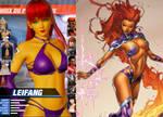 [DOA6] LeiFang as Starfire (DC Comics)