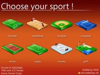 Choose your sport Icons by TPDKCasimir