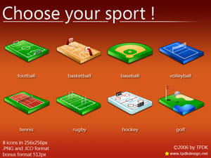 Choose your sport Icons Mac OS