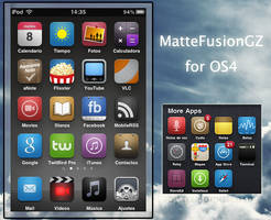 MatteFusionGZ Iphone Theme V4 by gzalomoscoso