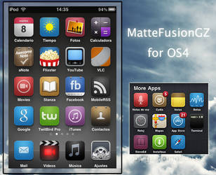 MatteFusionGZ Iphone Theme V4 by gzalomoscoso