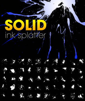 Solid Ink Splatter