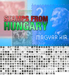 Stamps from Hungary Photoshop