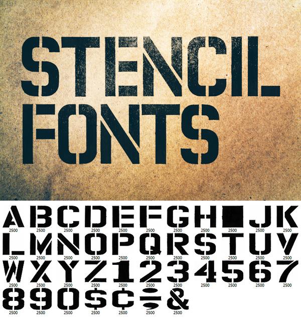 Permanent Marker Stencil Fonts