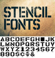 Permanent Marker Stencil Fonts by pstutorialsws