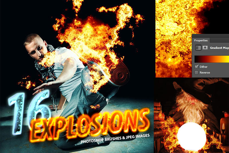 16 Photorealistic Explosion Brushes