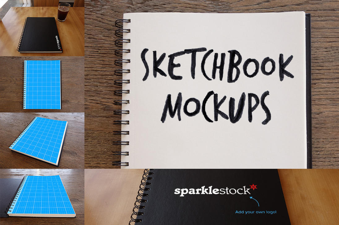 Photorealistic Sketchbook Mockups by pstutorialsws