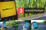 3 Realistic Android Mockups