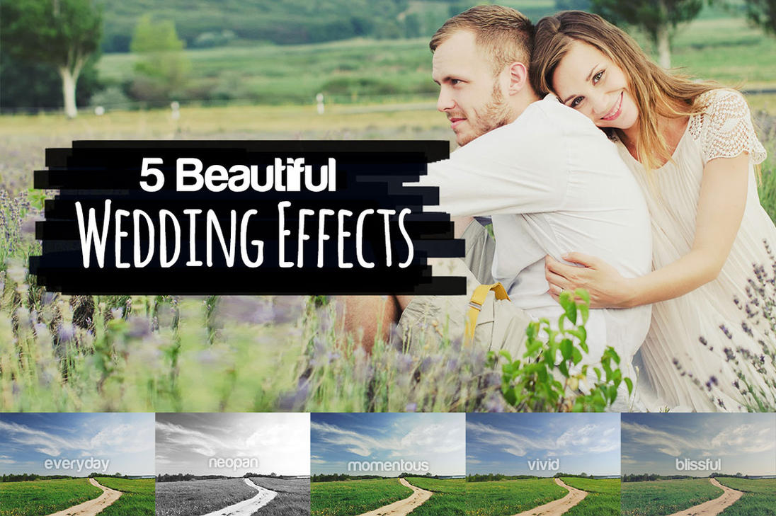 5 Beautiful Wedding Effects by pstutorialsws