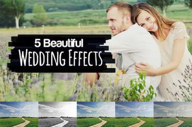 5 Beautiful Wedding Effects by pstutorialsws