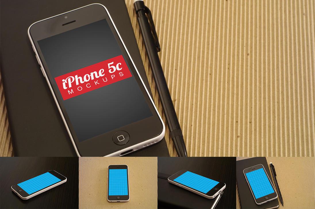 Clean iPhone 5c Mockups by pstutorialsws