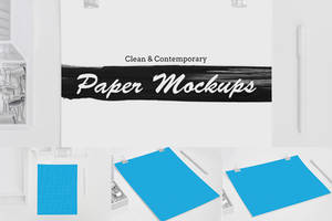 Clean and Contemporary Paper Mockups by pstutorialsws