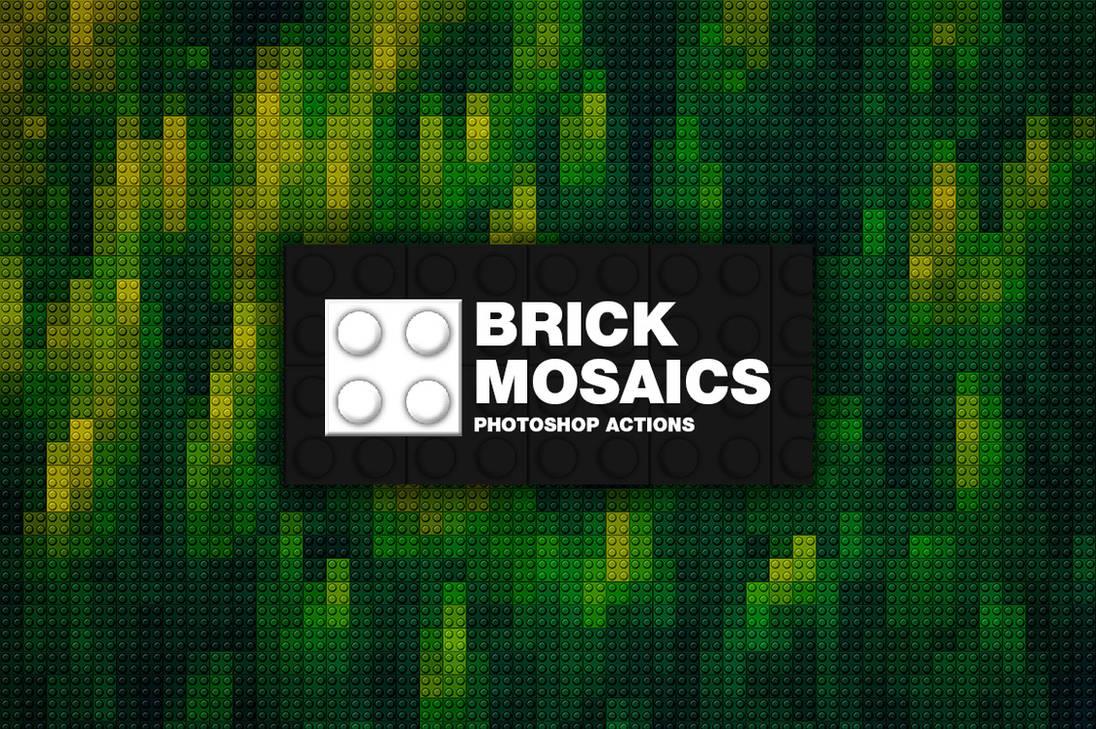 Brick Mosaics Photoshop Actions by pstutorialsws on DeviantArt