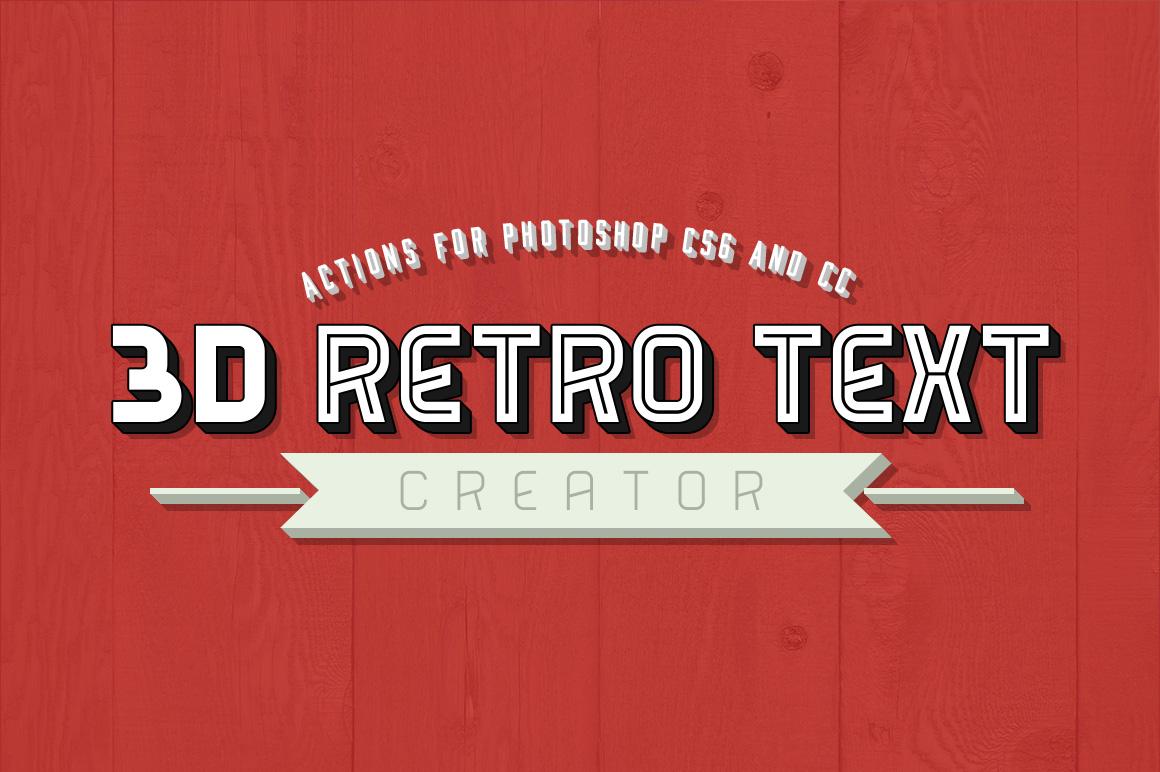 3D Retro Text Creator Photoshop Actions