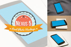 Nexus 5 Product Mockups for Photoshop (PSDs) by pstutorialsws