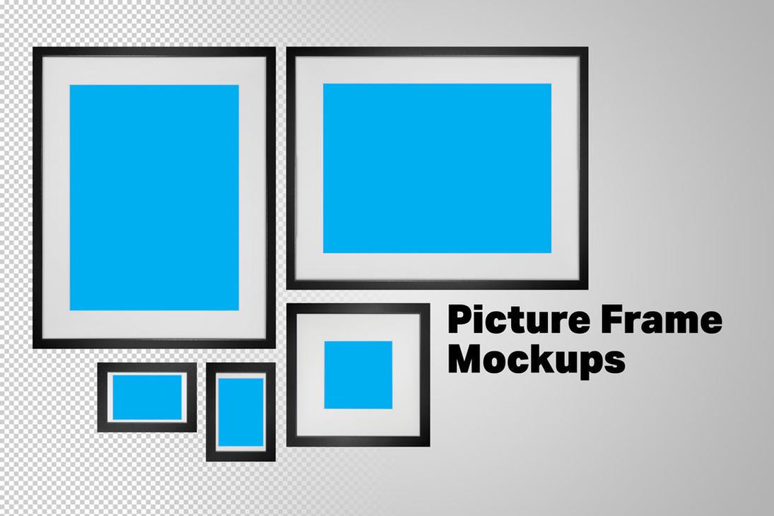 5 Black Picture Frame Mockups by pstutorialsws