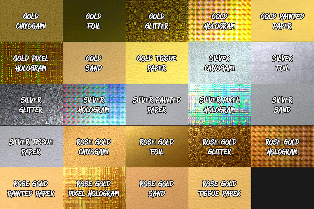 Silver and Gold by SparkleStock (Lite) by pstutorialsws