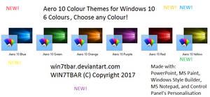 Aero 10 Colour Themes for Windows 10