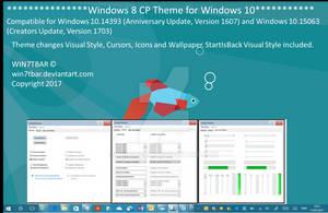 Windows 8 CP Theme for Windows 10 by WIN7TBAR