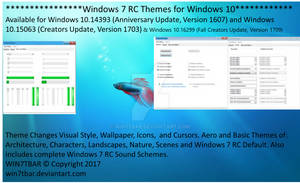Windows 7 RC Themes for Windows 10 [UPDATED]