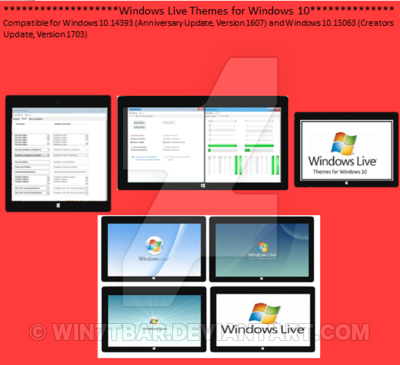 windows live themes for windows 10 by win7tbar on deviantart