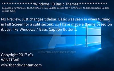 Windows 10 Basic Themes by WIN7TBAR
