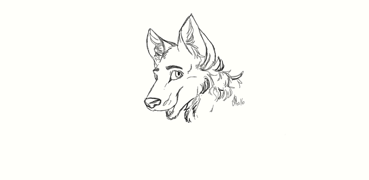 Random wolf doodle by lulululi
