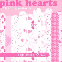 Pink Hearts by goshdarnart