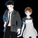 {MMDxDBH} TDA DBH Kara and Connor v2