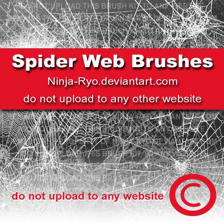 PS6 BRUSHES - Spiderwebs by Ninja-Ryo