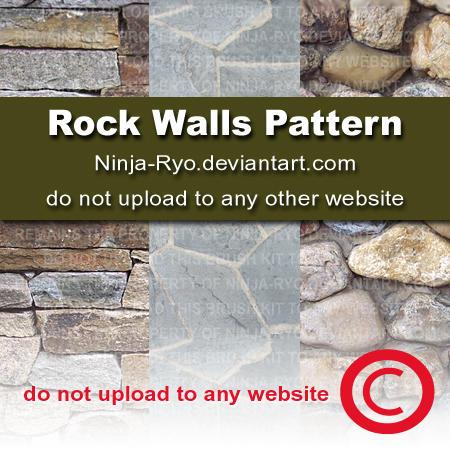 PS6 PATTERNS - Rock Walls by Ninja-Ryo