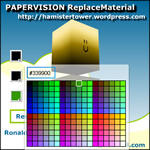 Papervision ReplaceMaterial