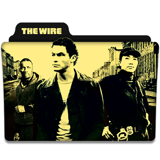 the wire tv series folder icon by dyiddo on deviantart. Black Bedroom Furniture Sets. Home Design Ideas